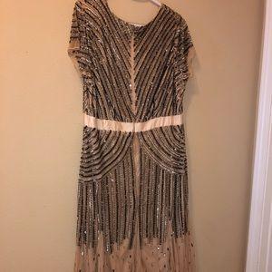 09c1960589d9 Ashro Dresses - Ashro - Hand-Beaded Evening Gown - Size 16W